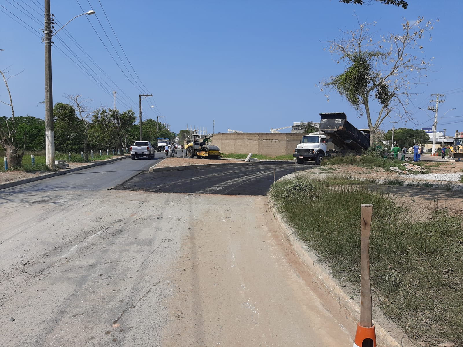 Obras no Trevo da Marinha entram na fase de asfaltamento